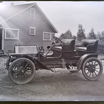 Antique Ford Model K?  Glass Photo Negative  - Photographs