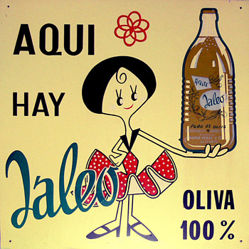 JALEO olive oil sign (Spain, 1960s) - Advertising