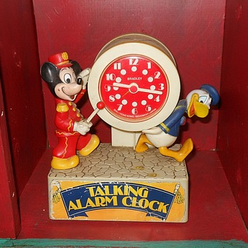 Bradley Talking Alarm Clock with Mickey Mouse and Donald Duck - Advertising