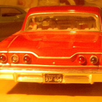 Screw Bottom '63 Impala built model.  Looks real...because I didn't build it. - Model Cars