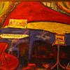 Original Joe Lamanno Impressionist Pastel Painting Cello & Piano on Stage