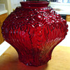 Red Glass Lamp Globe