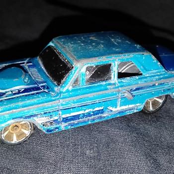 Hot Wheels 2001 - 2011 2012 Ford Thunderbolt 427 Aqua Blue Window Error Toy Car - Model Cars