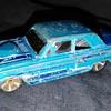 Hot Wheels 2001 - 2011 2012 Ford Thunderbolt 427 Aqua Blue Window Error Toy Car
