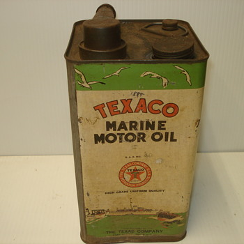 Texaco Marine Oil Can - Petroliana