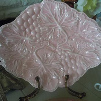 Pink Majoica Platter