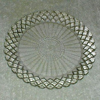 "Waterford ""Waffle"" Dinner Plates - Glassware"