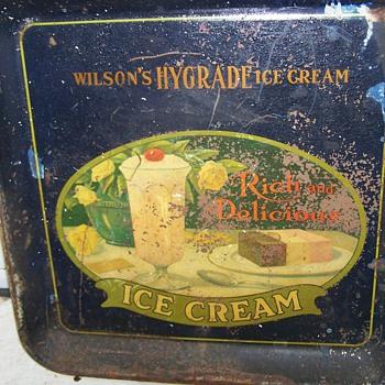 Wilson's Hygrade Ice Cream Tray - Signs