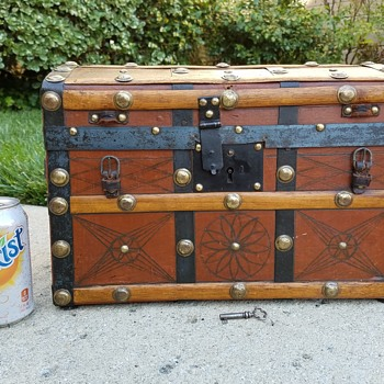 Leather Covered 1870's Toy Trunk - Furniture