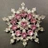 Bogoff snowflake brooch