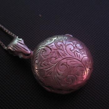 Fancy Silver Locket  - Fine Jewelry