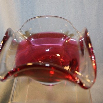 Art Glass Dish Signed Flygsfors, Coquille, Sweden - Art Glass