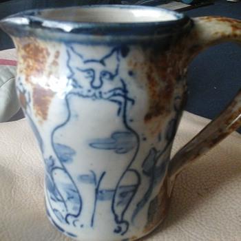 stoneware milk jug - Pottery