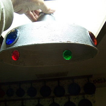 UFO light shade vintage metal pendant - Lamps