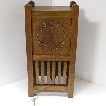 Arthur Pequegnat Mantle Clock, Tokio Model, Mission Style, C1910,Berlin,Ontario - Clocks