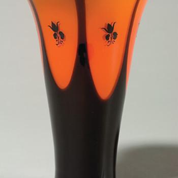 Loetz enamel styles - # 5 Peche tulips - Art Glass