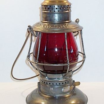 LS&MS Railroad  Lantern by Adams & Westlake - Railroadiana