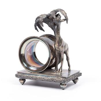 ROCKFORD GIRAFFE NAPKIN RING !! - Silver