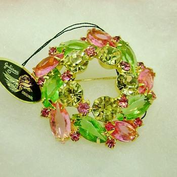 Verified Juliana Brooch - Pastel Circle  - Costume Jewelry