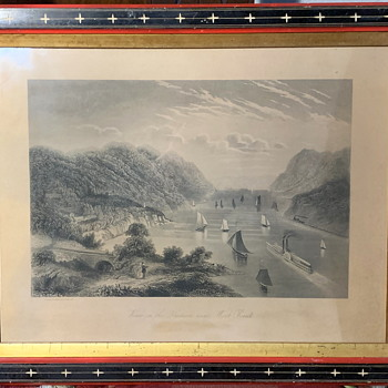 Etching of a View of the Hudson from West Point - Posters and Prints