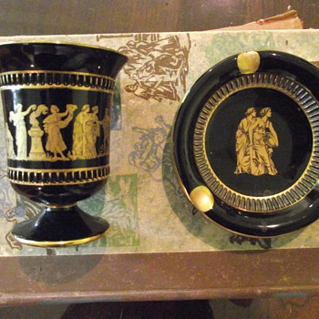 H.J.B. STANDEY & RTS CUP & SAUCER (ASH TRAY)? - Pottery