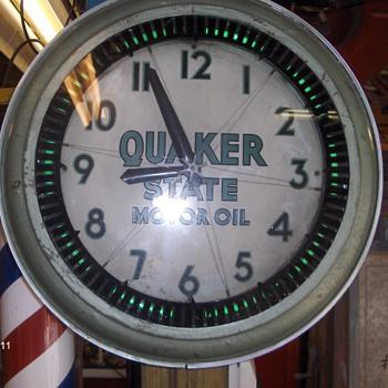quaker state neon spinner - Clocks