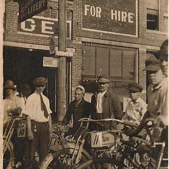 Vintage Pope Motor Cycle - Photographs