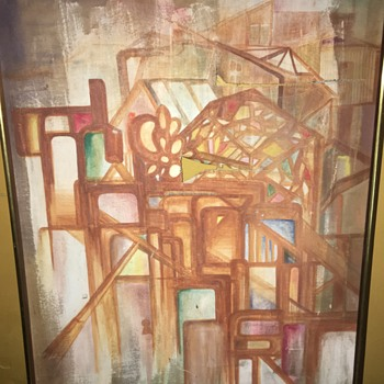 Abstract oil painting by Ronald MeVs  - Fine Art