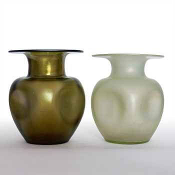 Lötz vases: Bronce Glass & Olympia Glatt - Art Glass