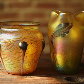 Loetz vases possibly? - Art Glass
