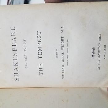 1876 Shakespeare The Tempest Oxford Clarendon Press Rare