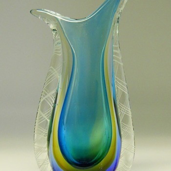 Murano Sommerso 4 layer coloured glass, Circa 20 Century - Art Glass
