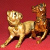 Antique Cold Painted Bronze Playful Dogs