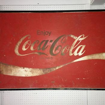 Vintage Coke sign  - Coca-Cola
