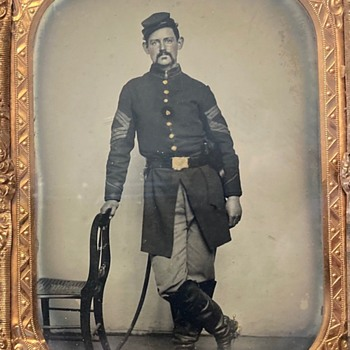 Civil War Sergeant Major ambrotype - Military and Wartime