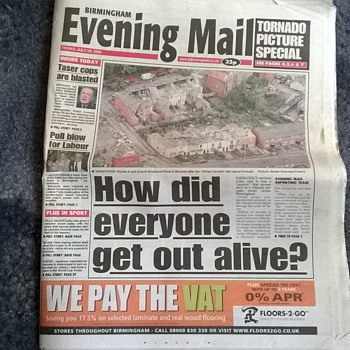 2005-the Birmingham tornado horror -'evening mail'.