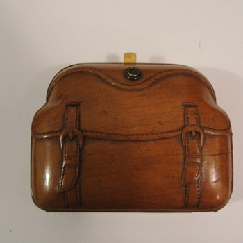 Miniature wooden Purse - Womens Clothing