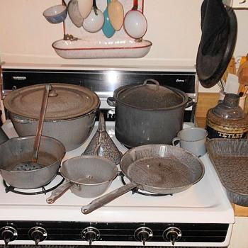 Vintage Gray (grey) Graniteware Collection - Kitchen