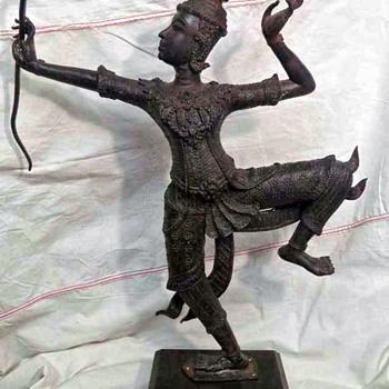 I love this Bronze Sculpture, God Vishnu , Hindu God Rama - Asian