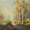 Oil on Canvas-Path through Woods--Part 1