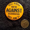 a 'blast to the past' pinback button