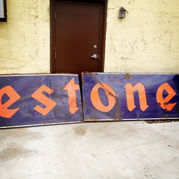 Has anyone ever seen this big of a porcelain Firestone sign?? - Petroliana