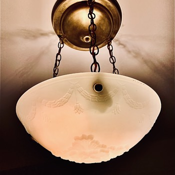Hanging pendant light- possible 20's, 30's ? - Lamps