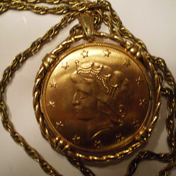 Liberty Coin Arenda, 17 Jewels Pendant Necklace Watch - Pocket Watches