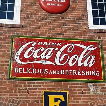 Christmas Coke Sign - Coca-Cola