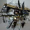 Fusion art glass plate