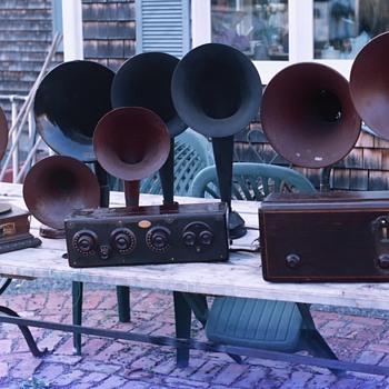 2004 old pics of Radios, Popcorn. Round Oak Stove. MOVIE'S AND ME - Radios