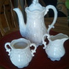 Just a few, Corn Maiden by Jack Black, Tea set that amazes me, Oatmeal Vase to touch, Pitcher & Bowl all need a name