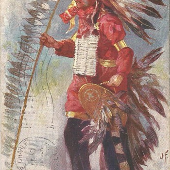 Native American Postcards 1905 to 1907