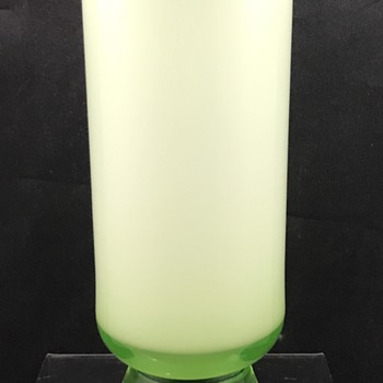 Unusual Kralik Uranium Glass Vase, ca. 1930s. - Art Glass
